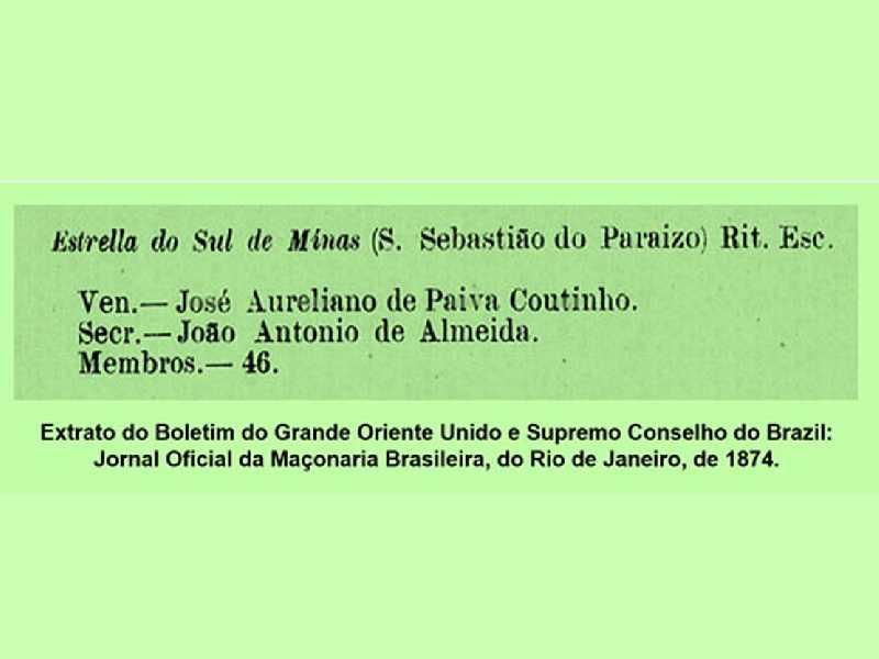 Extrato do Boletim do Grande Oriente Unido e Supremo Conselho do Brazil: Jornal Oficial da Maçonaria Brasileiro, do Rio de Janeiro, de 1874