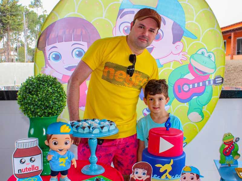 Com meu sobrinho Gustavo