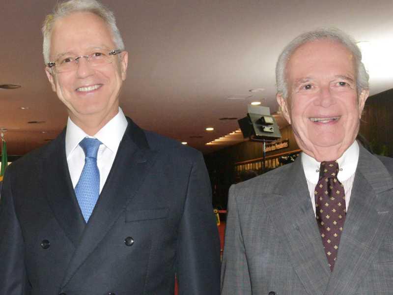 Ministro Carlos Mário Velloso Filho e o advogado Pedro Gordilho
