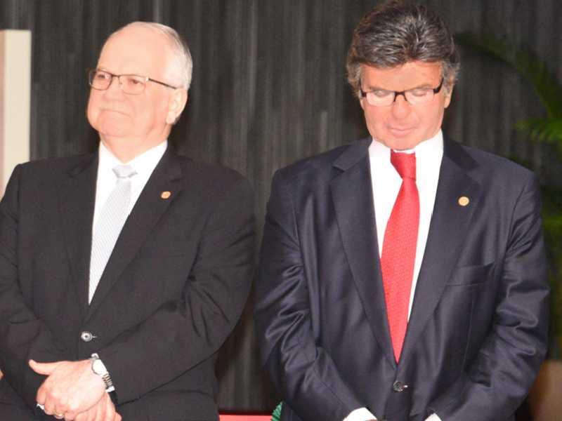 Ministros Edson Fachin e Luiz Fux
