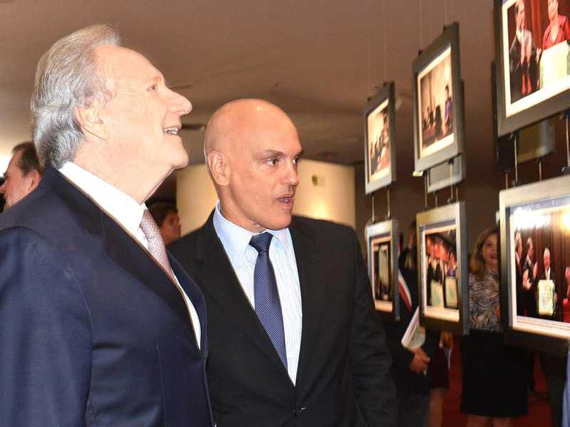 Ministros Ricardo Lewandowski e Alexandre de Moraes