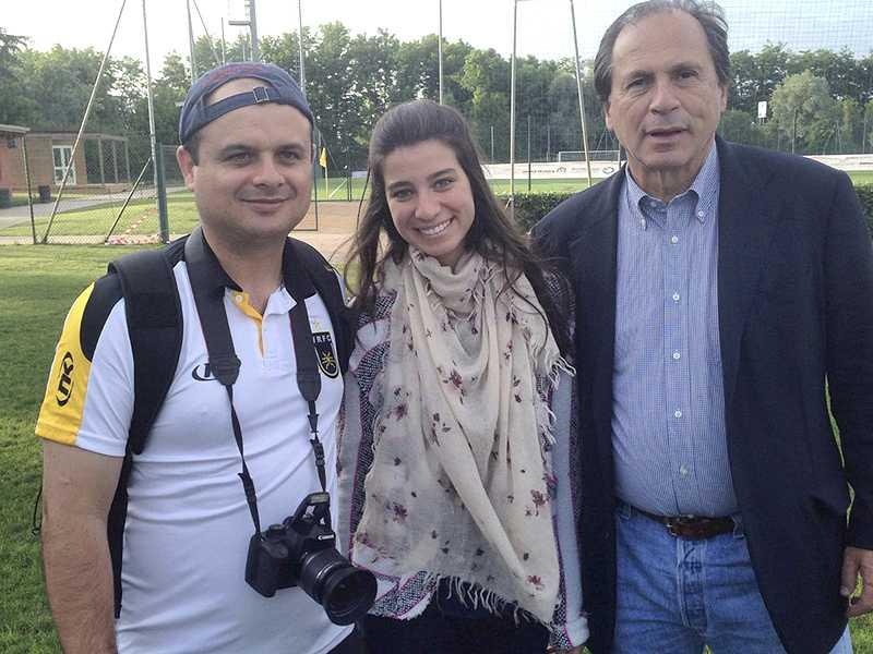 Na foto, Leco, Victoria e Dr. Benjamin Steinbruch