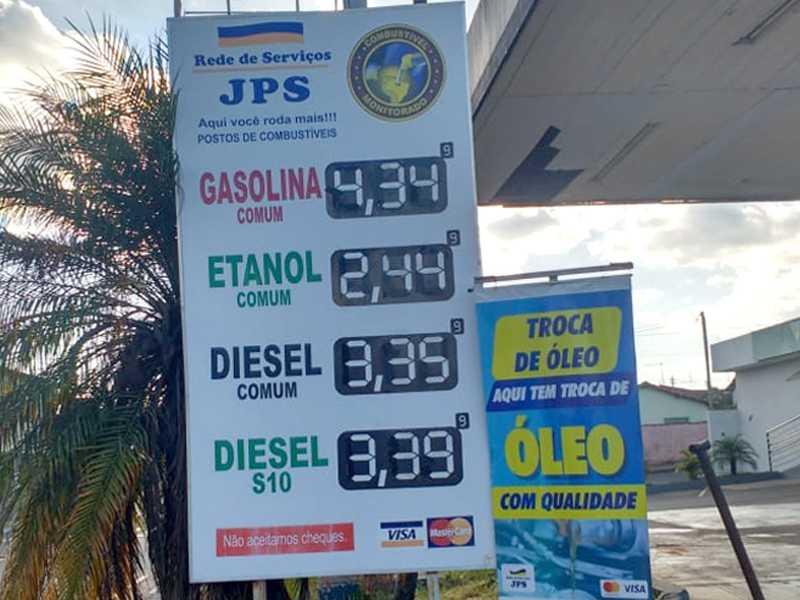 Vejam os preços mais em conta dos combustíveis no Posto JPS aqui em Paraíso