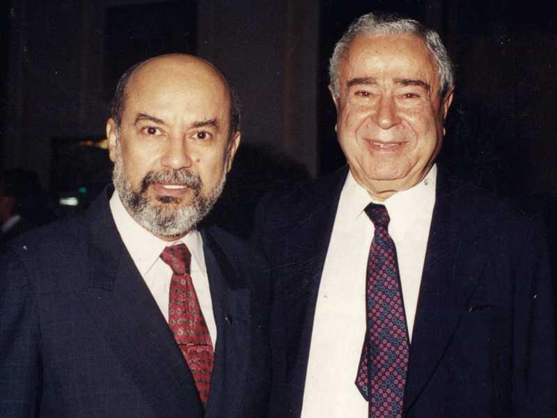 Registro da fraterna e antiga amizade entre José de Paiva Netto e o sempre lembrado dr. João Jorge Saad, fundador do Grupo Bandeirantes