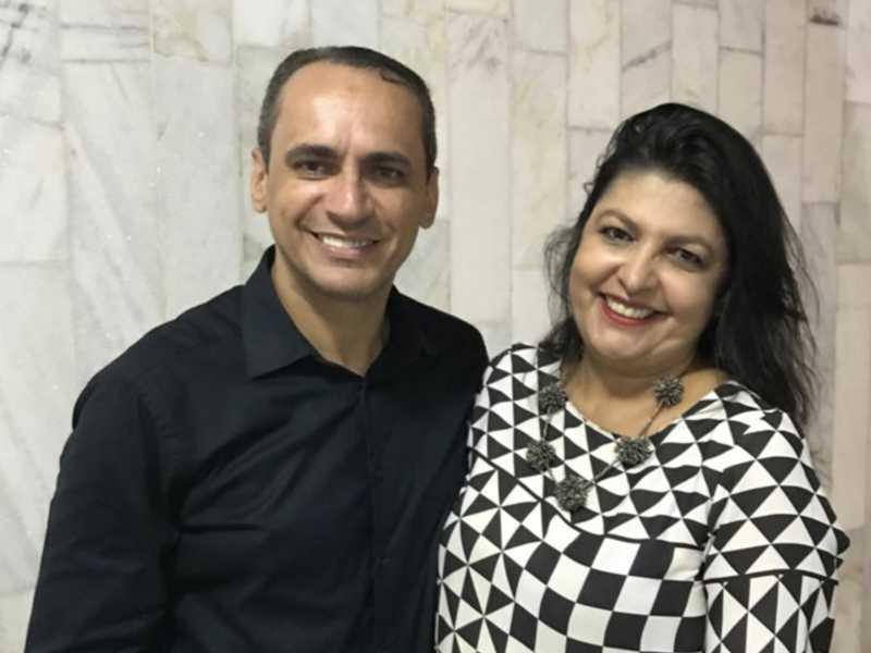 Os pastores, Adriano e Nayra Falcão