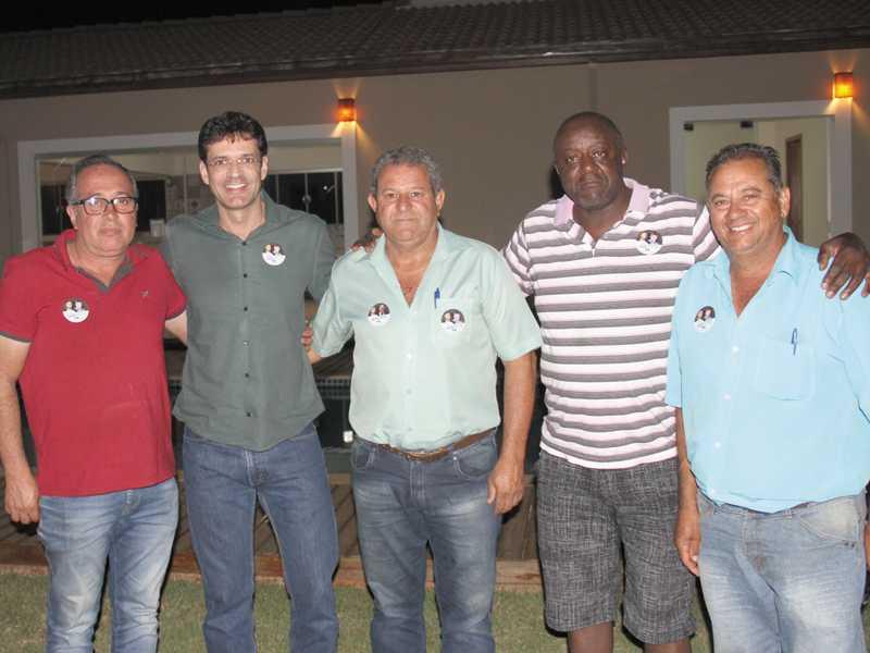Luiz Carlos, Deputado Marcelo Álvaro, Edinho, Vitinho do Gás e Luiz Macaco