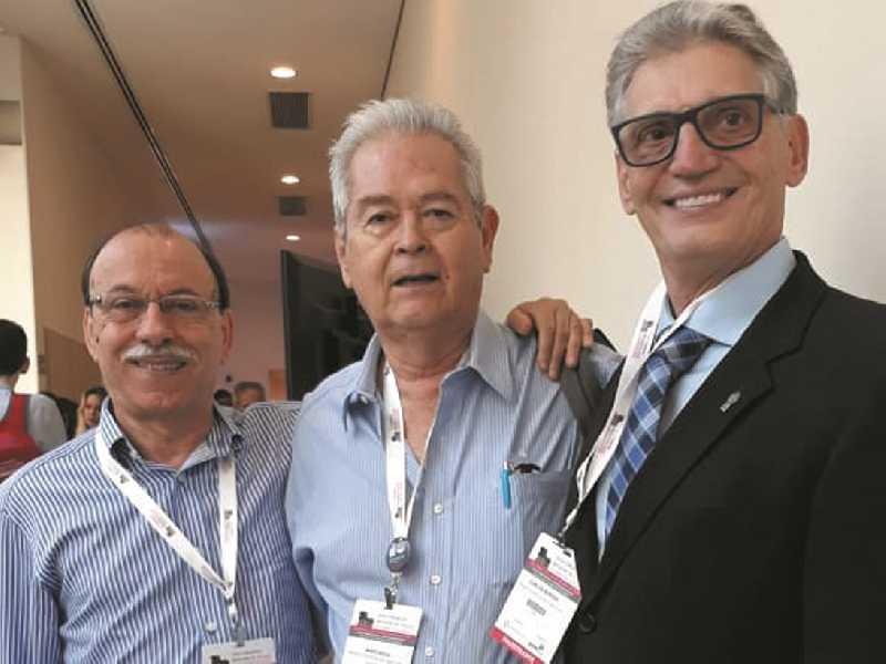 Doutor e professor Speciali, doutor Mário Oliva Rocha e doutor Carlos Alberto Bordini