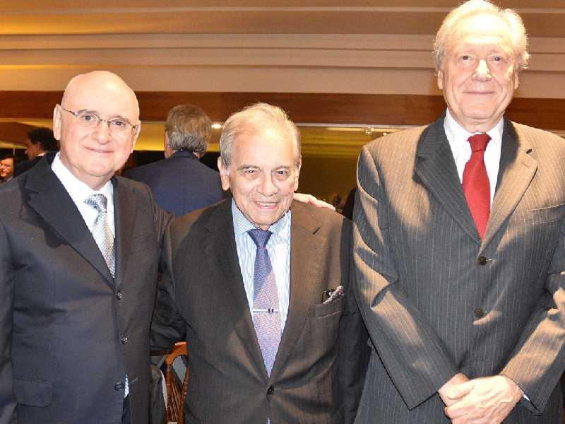 Ministros Ari Pargendler, Carlos Fernando Mathias e Ricardo Lewandowsky