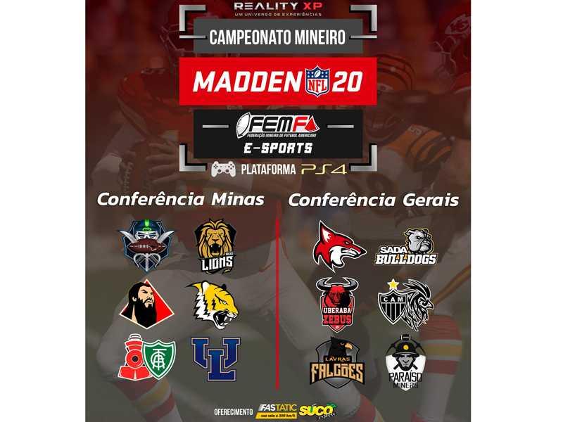 Competição virtual reúne 12 equipes de Minas Gerais em divididas em duas conferências