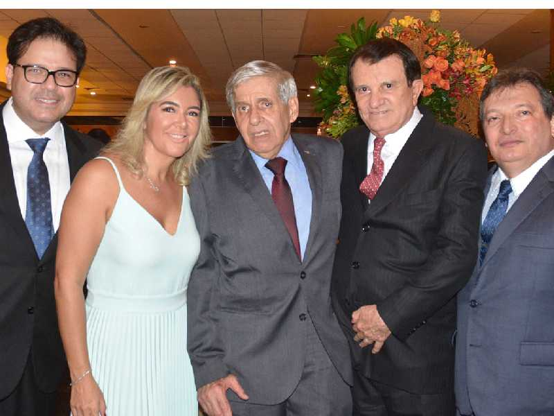 Marcelo Feitosa, Ana Cristina Campelo, general Augusto Heleno, Estenio Campelo e desembargador Durval Vasconcelos
