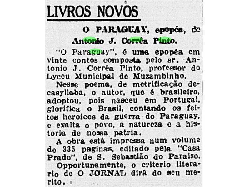 O Jornal. Rio de Janeiro, 25 de junho de 1924