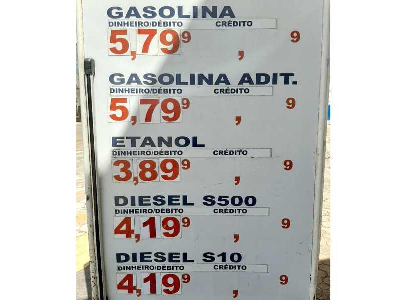 Valor combustíveis em Passos, sexta-feira (26)