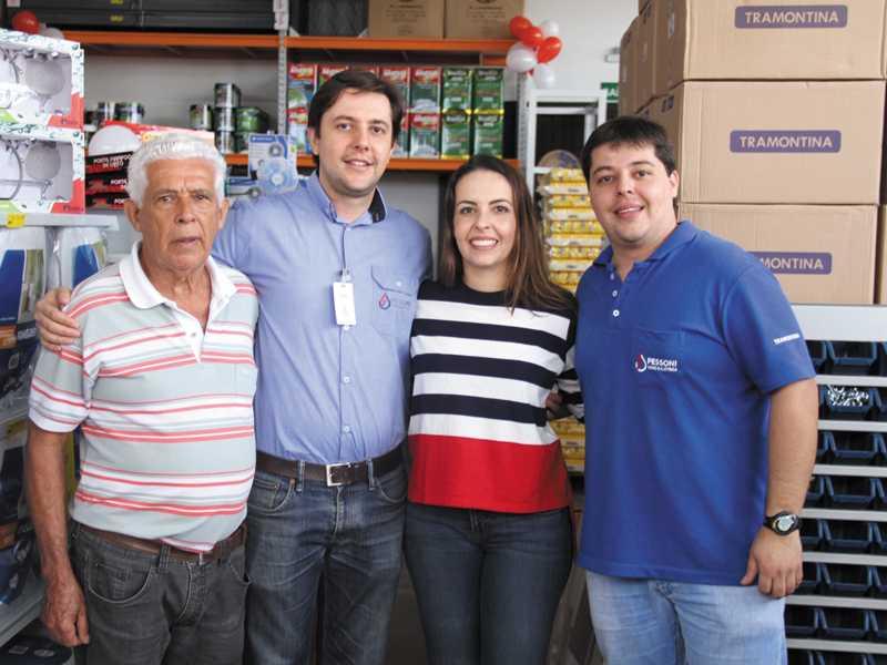 Luiz Emygdio, Lázaro Augusto, Erica e André Pessoni