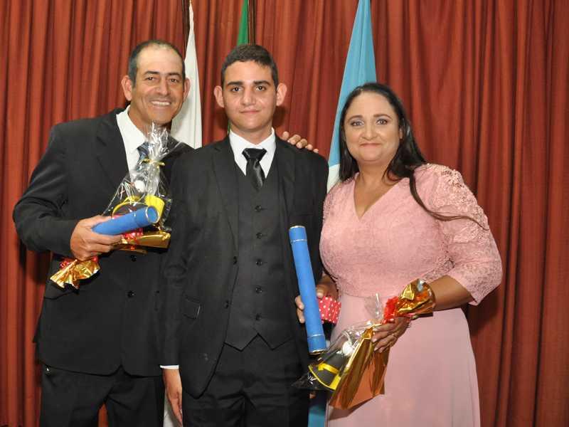 Joacir, Gustavo (filho) e Sandra