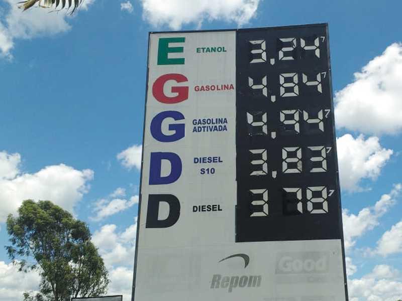 No Posto Paraíso, o consumidor  cadastrado paga R$4,647 no litro da gasolina e R$ 3,087 no etanol
