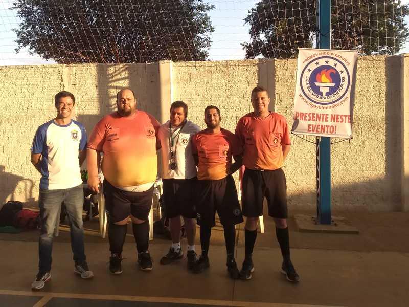 Professores de Educação que participaram do evento  esportivo: Rafael, Andrei, Marcelo, Humberto e Luiz Miguel