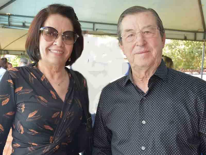 A ministra Laurita Vaz, que deixa a presidência do STJ no próximo dia 29, e o marido José Vaz
