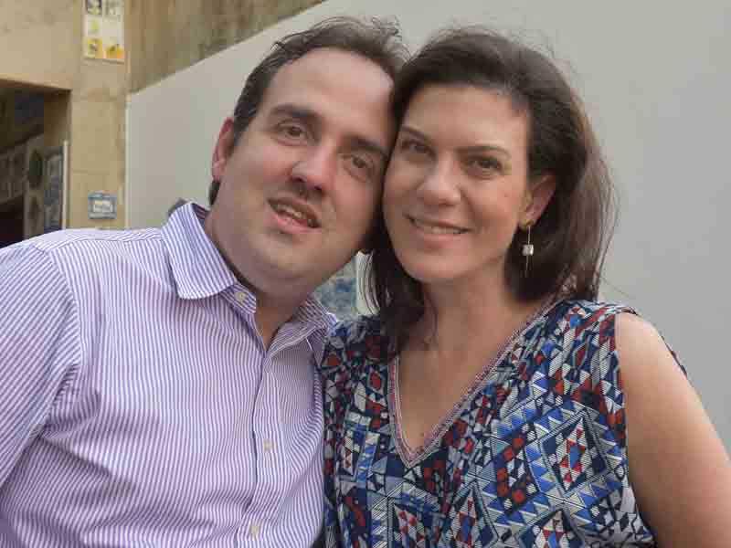 Leandro Colon e Ana Luiza Mathias de Souza