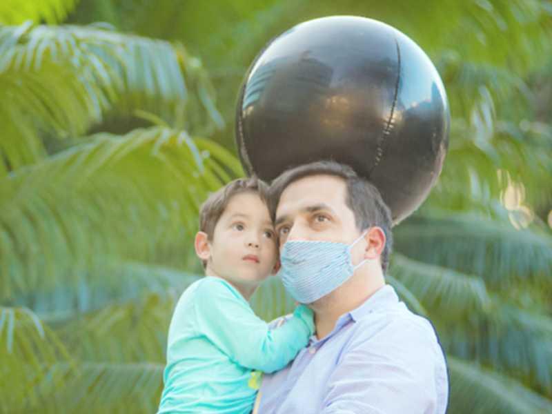 Lucas com o papai Luiz Estevão de Oliveira
