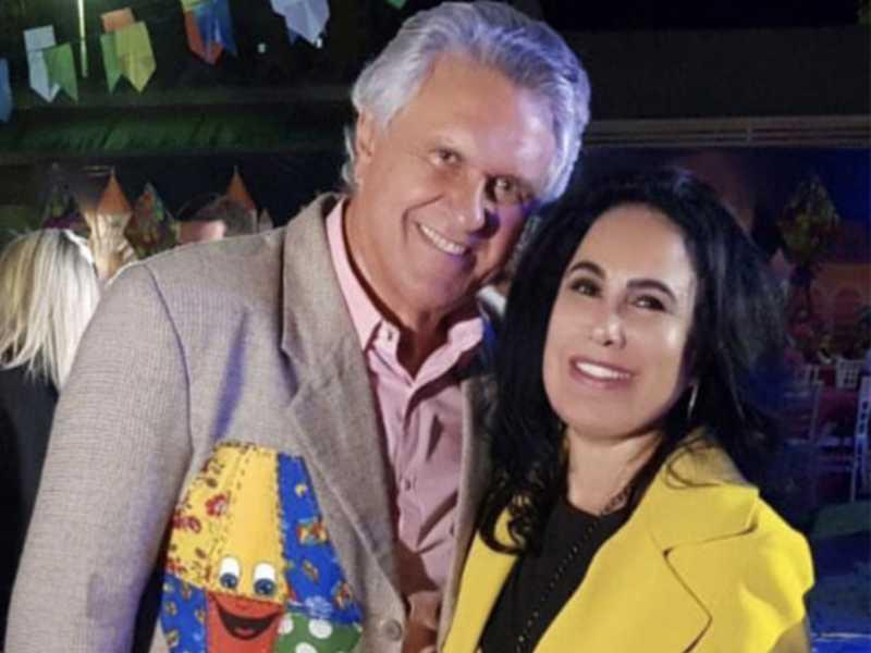 A diretora de New Style, Ana Luiza Pinheiro, com o governador Ronaldo Caiado no Arraiá do Bem