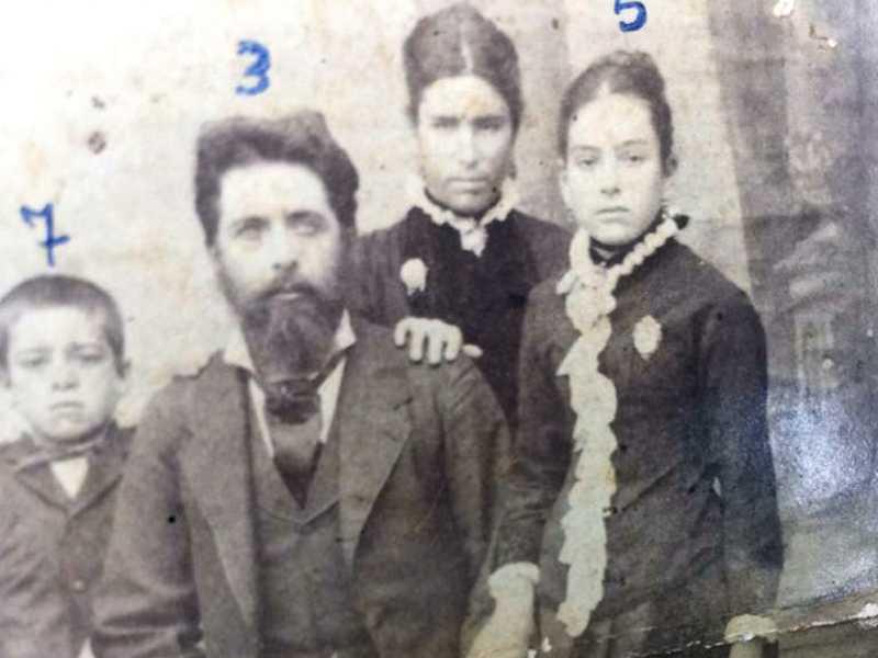 Comendador João Alves e Esposa Dorotéia e Filhos