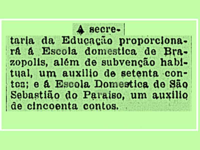 Fonte: Correio da Manhã Rio de Janeiro, 4 de janeiro de 1933