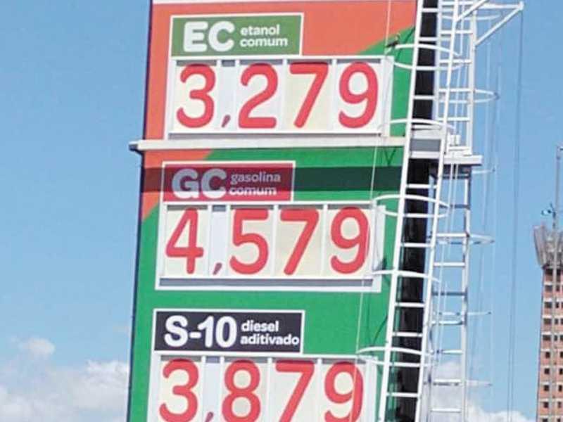 Preços dos combustíveis em Franca