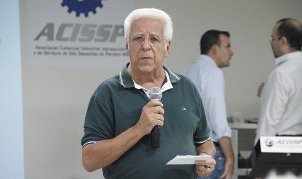 Presidente da Associação Comercial, Industrial, Agropecuária e  Serviços de São Sebastião do Paraíso (ACISSP), Ailton Rocha de Sillos