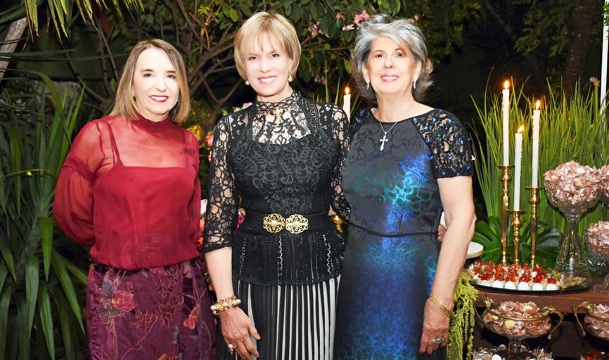 Maria Emília Mioto, Wanira Mendonça Godoi e Maria Tereza Hatscbasch (Foto de Luciana Lombardi)
