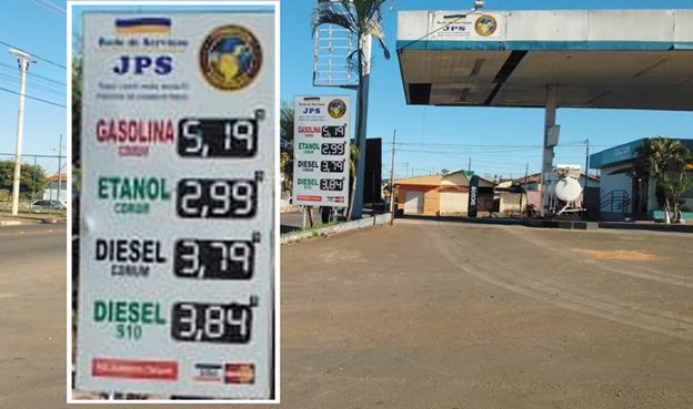 Vejam o Preço Absurdo do litro da Gasolina nesta Quinta Feira no  Posto JPS , que fica localizado na Av Brasil no Parque São Judas Tadeu