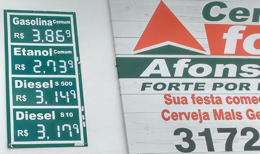 Vejam o preço dos combustível na cidade de Igarapava - SP