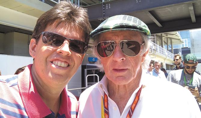 Com Jackie Stewart, tricampeão  da F1 em 1969/71/73