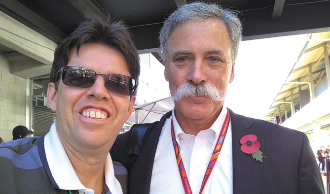 Com Chase Carey, um dos novos donos da F1