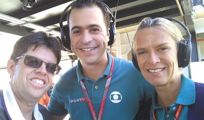 Com Guilherme Pereira e Mariana Becker, repórteres de F1 da TV Globo
