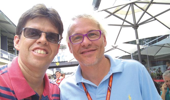 Com Jacques Villeneuve, campeão mundial de 1997