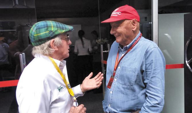Bate papo entre  Jackie Stewart e Niki Lauda