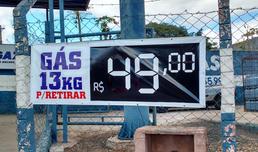 R$ 49,00, o preço mais barato do gás de 13kg em Paraíso