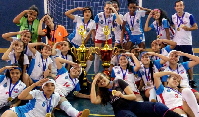 Futsal feminino de Paraíso é campeão na Liga Riopardense de Futsal ... c6fc33990f54c