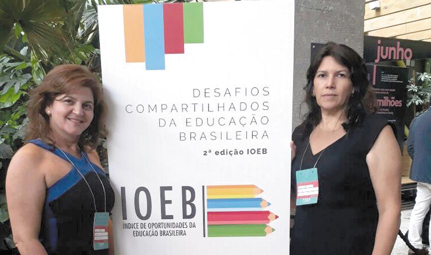 Coordenadora e a secretária de Educação  de Paraíso participaram de levantamento  realizado pelo IOEB sobre o município