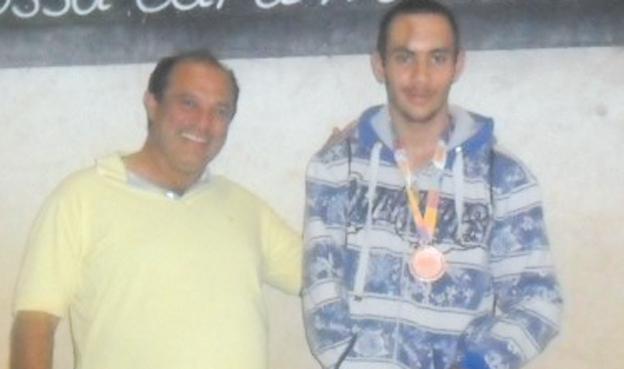 Ronaldo Dias  e o aluno/atleta Luís Roberto Silva