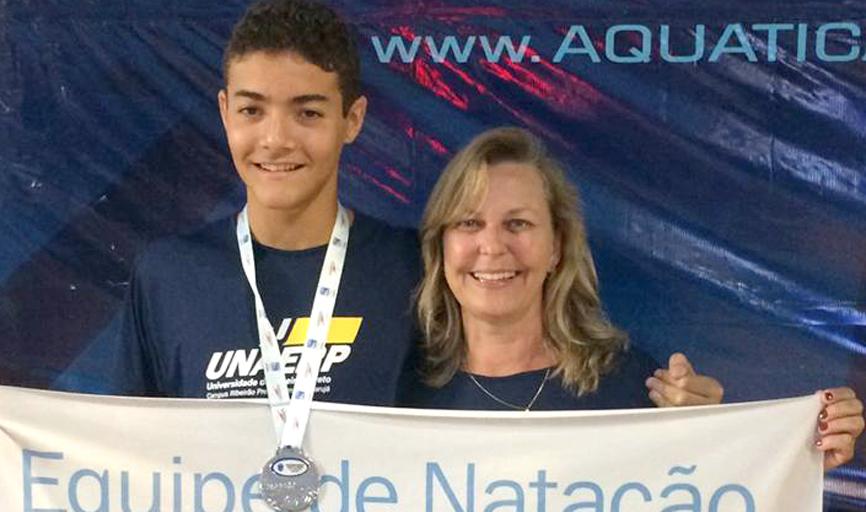 Flávio também se classificou em 8º lugar nos 1500m livre
