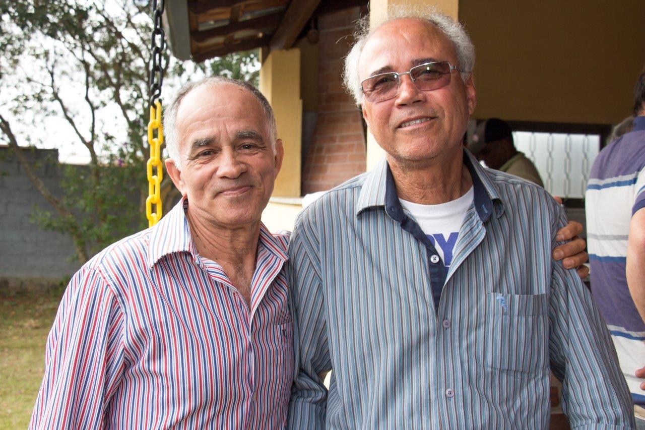 O sargento CELE (à esquerda) e seu cunhado e grande amigo Romildo