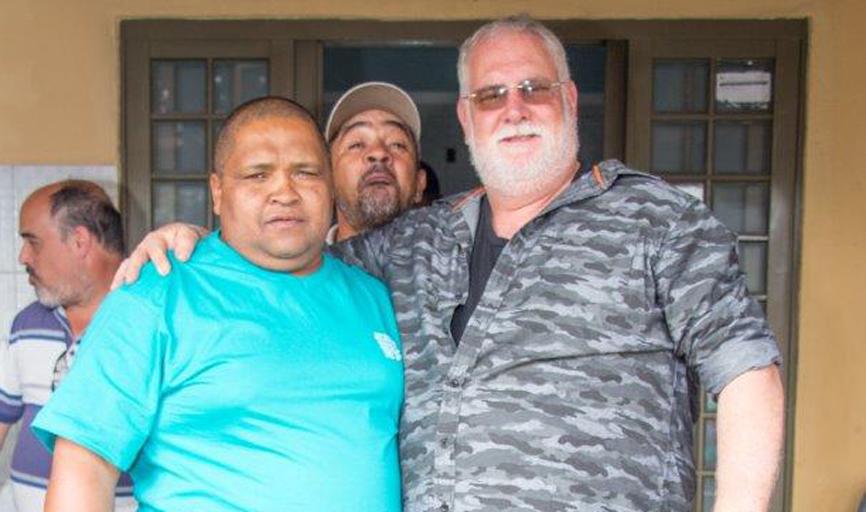 Os atiradores Mata e Garcia, e o monitor Zani