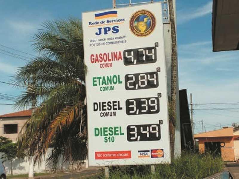 Posto JPS localizado na Av. Brasil no Parque São Judas Tadeu onde vende o litro do Diesel mais barato em Paraíso