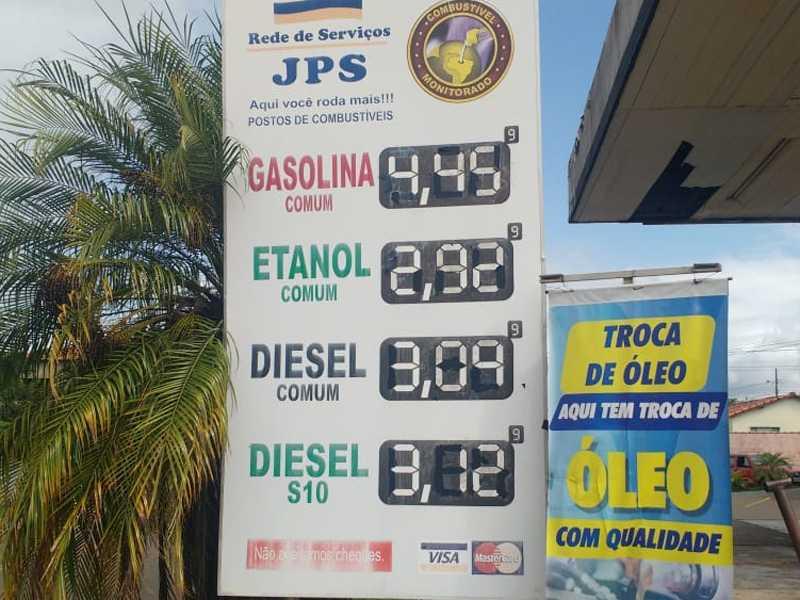 Posto JPS no São Judas Tadeu, preços dos combustíveis na sexta-feira (3/4)