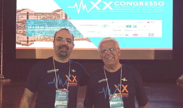 O presidente da ACISSP, Ailton Sillos e o Consultor de Negócios ACISSP/CDL  James Warley Pereira Ribeiro
