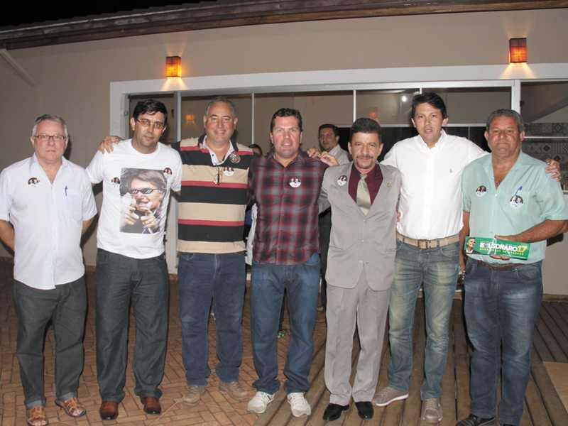 Ivaner, Daniel, Silvano Zague, Dárcio Cantieri, Dr. Rômulo, Dr. Carlos Brasil e Edinho