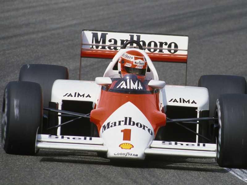Niki Lauda (McLaren) vencedor do último GP da Holanda, em 1985