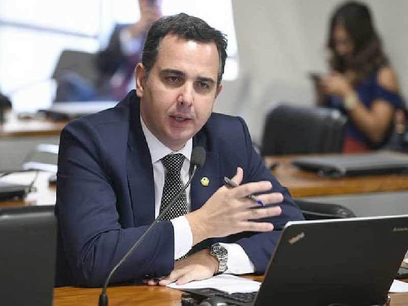 O líder do Democratas no Senado, Rodrigo Pacheco (MG)