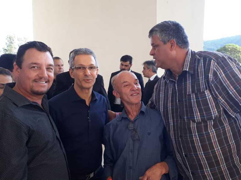 Prefeito e vereadores de São Tomás participaram de solenidade com o governador Romeu Zema